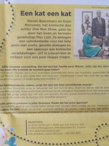 Interview met Max Last over Een kat een kat in Uit in Leuven